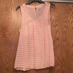 Women's size L sleeveless blouse peach